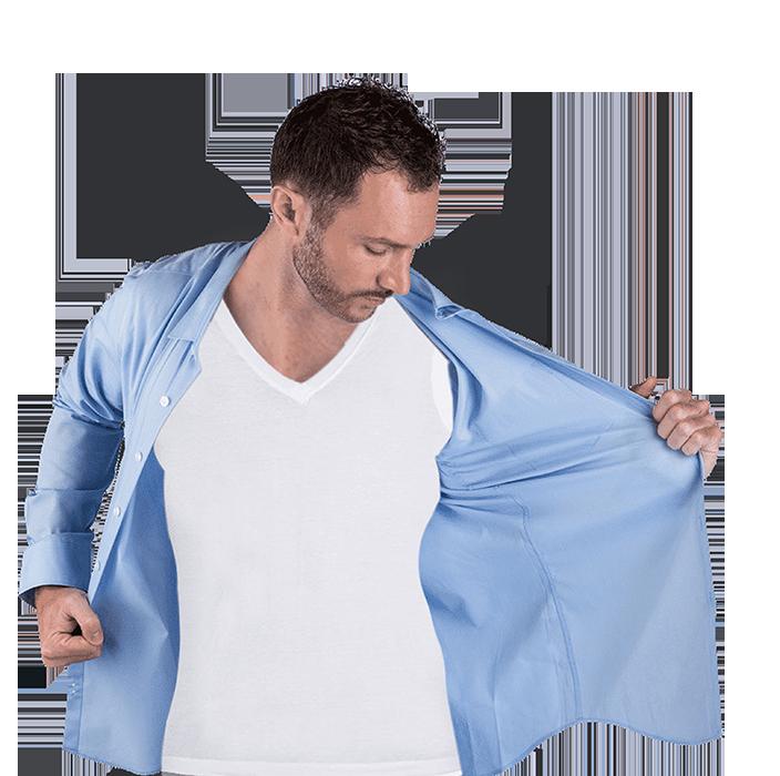 زیرپوش ضد عرق با لایه محافظ پد زیر بغل